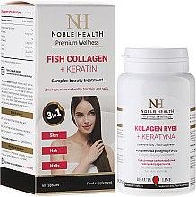 Düfte, Parfümerie und Kosmetik Fischkollagen und Keratin-Tabletten für schöne Haut, Haare und Nägel - Noble Health Kolagen + Ceratin