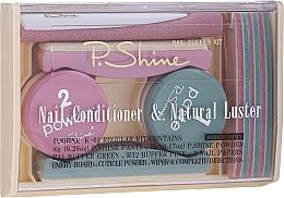 Düfte, Parfümerie und Kosmetik Nagelpflegeset - P.Shine (Nagelpaste 8g + Nägel-Brokat-Pulver 5g + Polier-Nagelfeile 5 St. + Nagelfeile 1 St. + Nagelzubehör 1 St.)