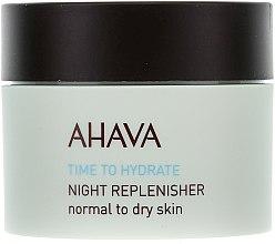 Düfte, Parfümerie und Kosmetik Pflegende Nachtcreme - Ahava Time To Hydrate Night Replenisher Normal to Dry Skin