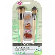 Düfte, Parfümerie und Kosmetik Make-up Pinselset 3-tlg. - Eco Tools Custom Match Duo