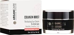 Düfte, Parfümerie und Kosmetik Pflegende und straffende Augenkonturcreme mit Kollagen - Arganicare Collagen Boost Perfecting Eye Cream