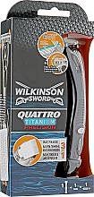 Düfte, Parfümerie und Kosmetik 3in1 Männerrasierer - Wilkinson Sword Quattro Titanium Precision