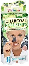 Düfte, Parfümerie und Kosmetik Nasenporenstreifen gegen Mitesser mit Aktivkohle - 7th Heaven Charcoal Nose Strips