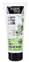 """Düfte, Parfümerie und Kosmetik Verjüngende Gesichtsmaske """"Coffee Silk"""" - Organic Shop Cream Mask Face"""
