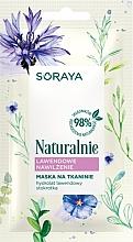 Düfte, Parfümerie und Kosmetik Feuchtigkeitsspendende Tuchmaske mit Lavendelwasser - Soraya Naturalnie Face Mask