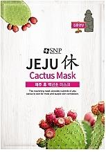 Düfte, Parfümerie und Kosmetik Nährende feuchtigkeitsspendende und entspannende Tuchmaske für das Gesicht mit Kaktusextrakt - SNP Jeju Rest Cactus Mask