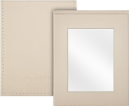 Düfte, Parfümerie und Kosmetik Klappbarer Taschenspiegel beige - MakeUp Pocket Mirror Beige