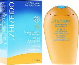 Intensiv pflegende Sonnenschutz-Emulsion für Gesicht und Körper SPF 6 - Shiseido Suncare Tanning Emulsion SPF 6 — Bild N1