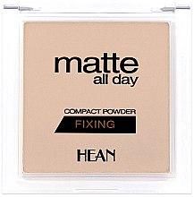Düfte, Parfümerie und Kosmetik Gesichtspuder - Hean Matte All Day Compact Powder