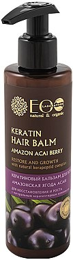Keratin-Haarspülung mit Acai-Beere - ECO Laboratorie Keratin Hair Balm Amazon Acai Berry